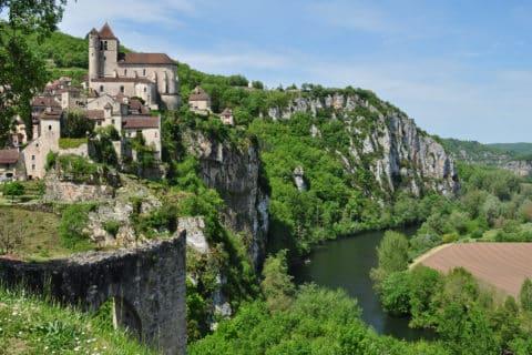 Saint-Cirq Lapopie, la vallée du Lot et du Célé