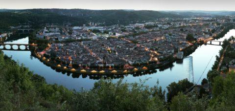 Cahors, ses vignobles et le Pont Valentré